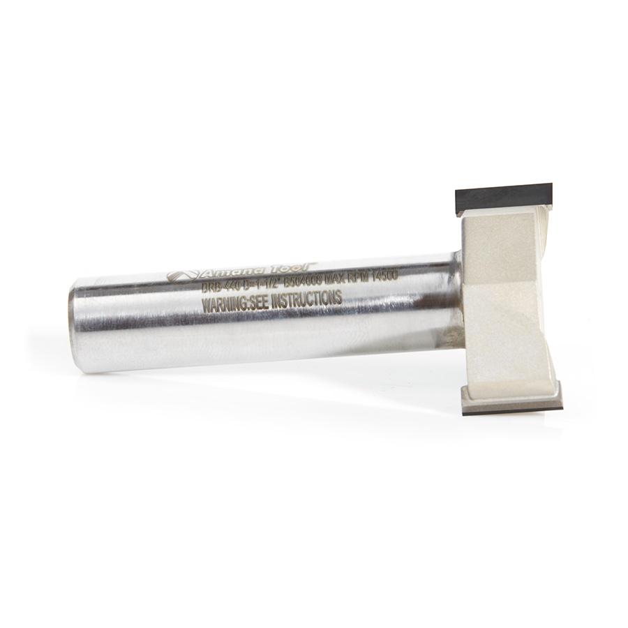 DRB-440 Polycrystalline Diamond (PCD) Tipped CNC Spoilboard Surfacing, Rabbeting, Flycutter, Slab Leveler & Surface Planer 1-1/2 Dia x 1/2 Inch x 1/2 Shank