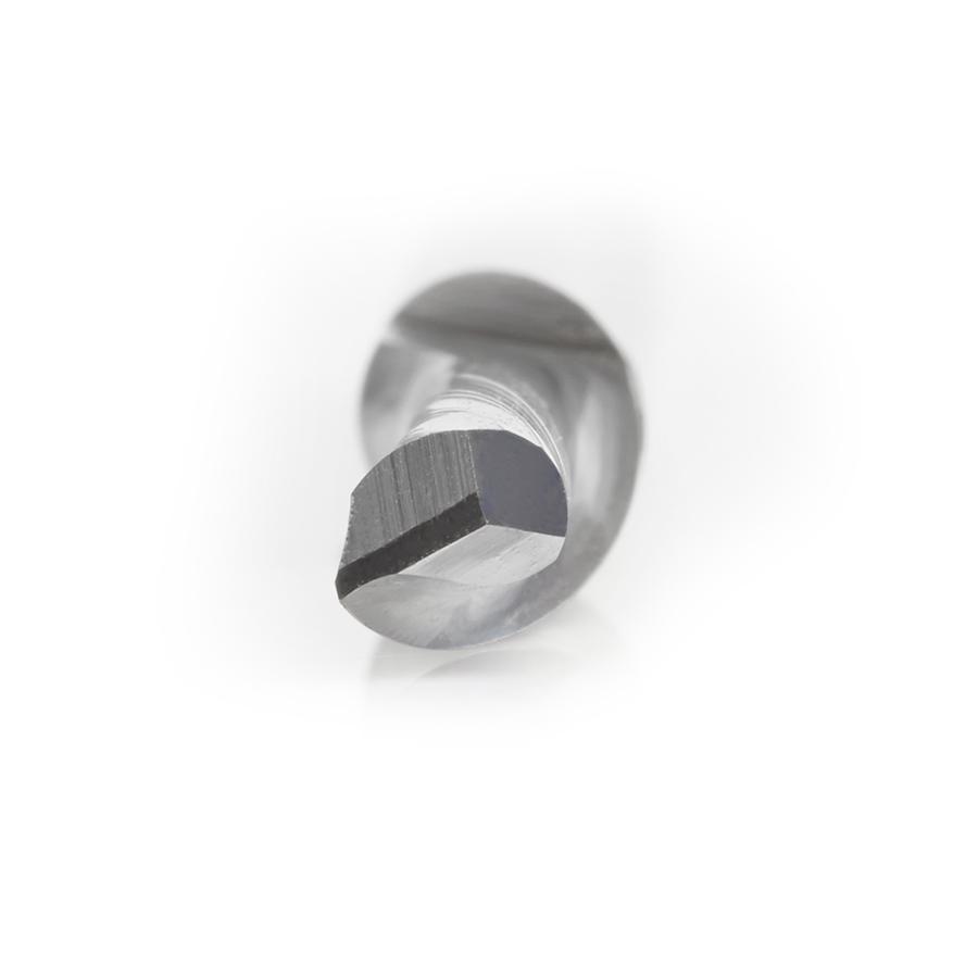 HSS1628 High Speed Steel (HSS) Single Flute Spiral Aluminum Cutting 1/4 Dia x 3/4 x 1/4 Inch Shank Down-Cut Router Bit