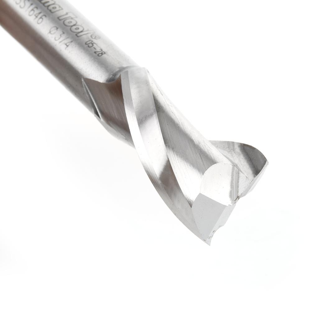 HSS1646 High Speed Steel (HSS) Double Flute Spiral Aluminum Cutting 3/4 Dia x 1-1/4 x 1/2 Inch Shank Up-Cut Router Bit