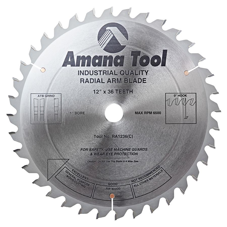 carbide tipped saw blades. ra1236 carbide tipped radial arm 12 inch dia x 36t 4+1, 0 deg, 1 bore circular saw blade blades g