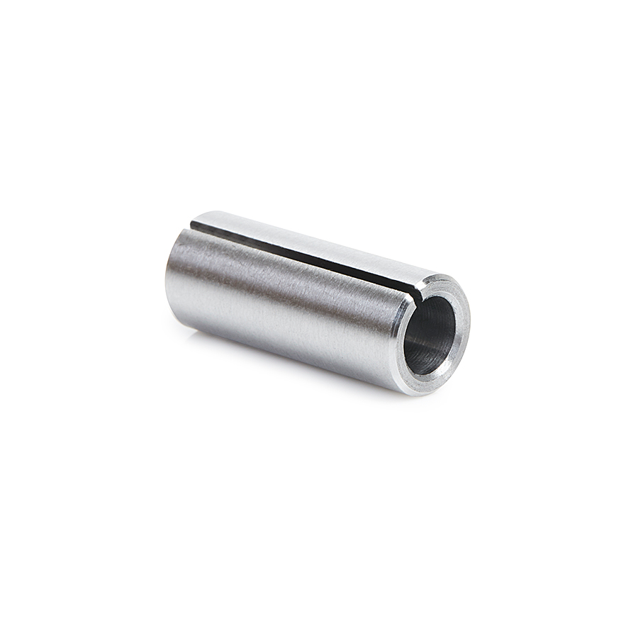 RB-109 High Precision Steel Router Collet Reducer 10mm Overall Dia x 1/4 Inner Dia x 25mm Long