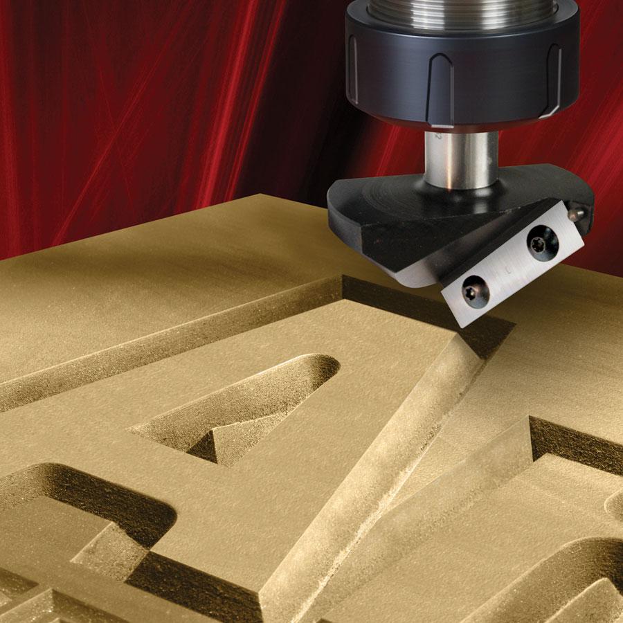 RC-1045 CNC Insert V-Groove 45 Deg x 7/8 x 1/2 Inch Shank
