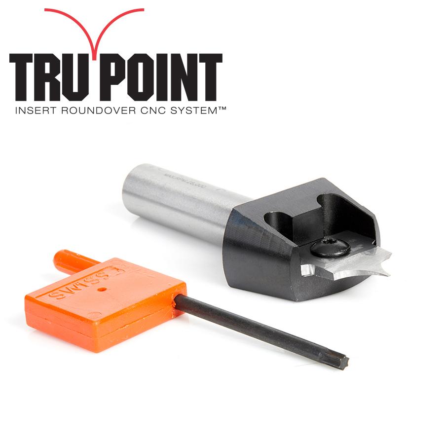RC-1061 Tru Point Insert Roundover CNC System 5/16 Radius x 7/8 Dia x 5/16 x 1/2 Inch Shank Router Bit