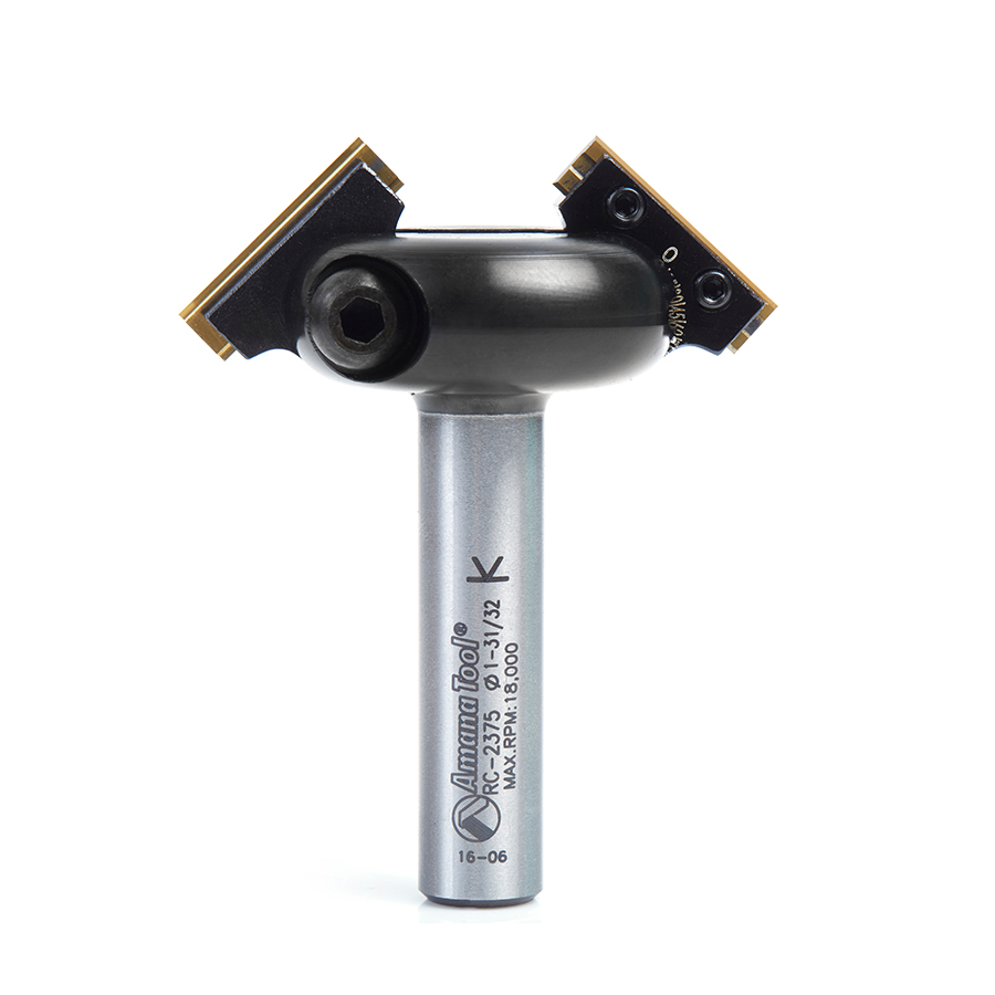 RC-2375 In-Bevel™ Insert Adjustable Chamfer 1-7/8 Dia x 31/32 x 1/2 Shank Router Bit for CNC  Handheld and Router Tables