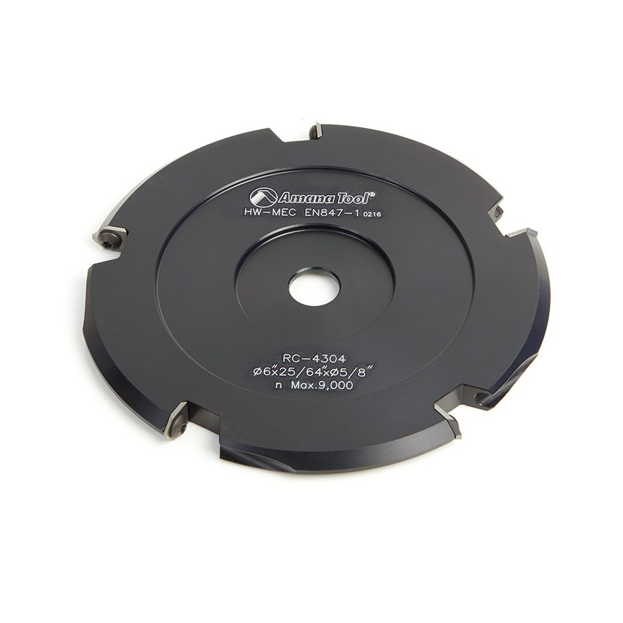 RC-4304 Insert Carbide ACM 90º Double Edge V-Scoring 6 Inch Dia x 5T x 5/8 Bore Saw Blade