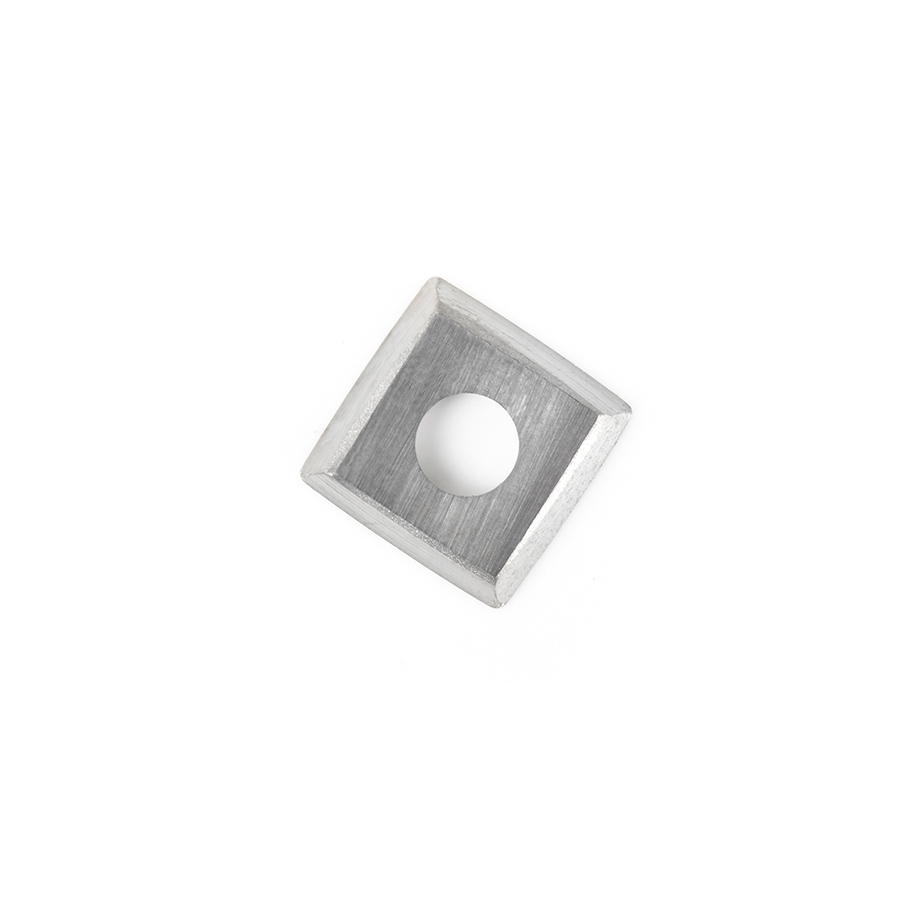 RCK-13 Solid Carbide 4 Cutting Edges with Radius and Rounded Edges Insert Replacement Knife, General Purpose, 15 x 15 x 2.5mm