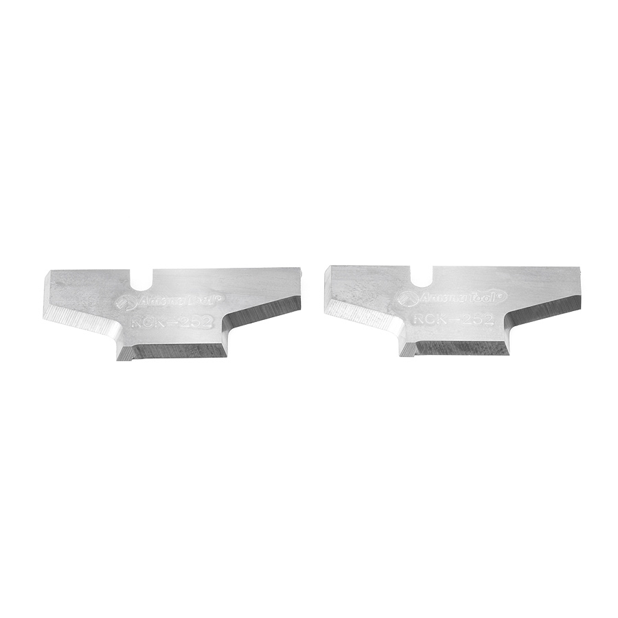 RCK-252 Pair of Insert Cabinet Door Edge Solid Carbide Insert Knives for RC-2120