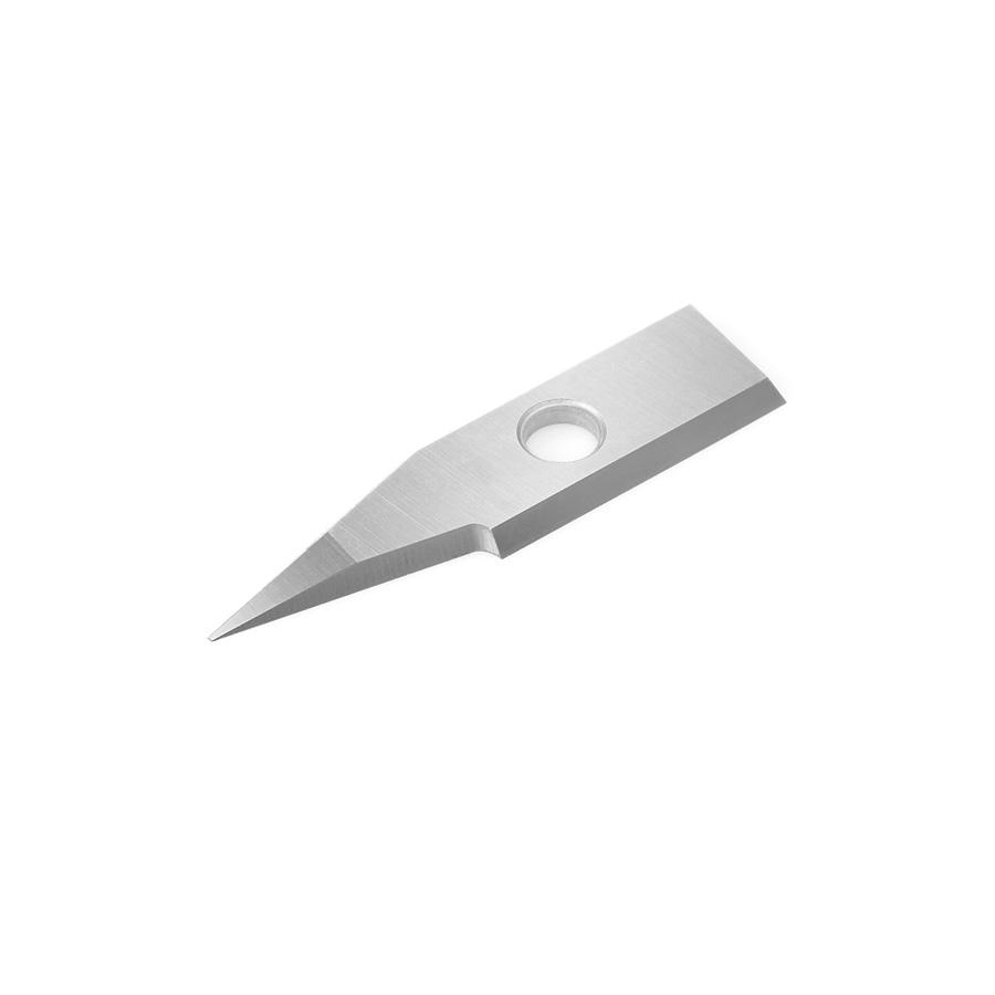 RCK-361 Solid Carbide Insert 30 Deg x 0.010 Inch V Tip Width Engraving Knife for In-Groove System