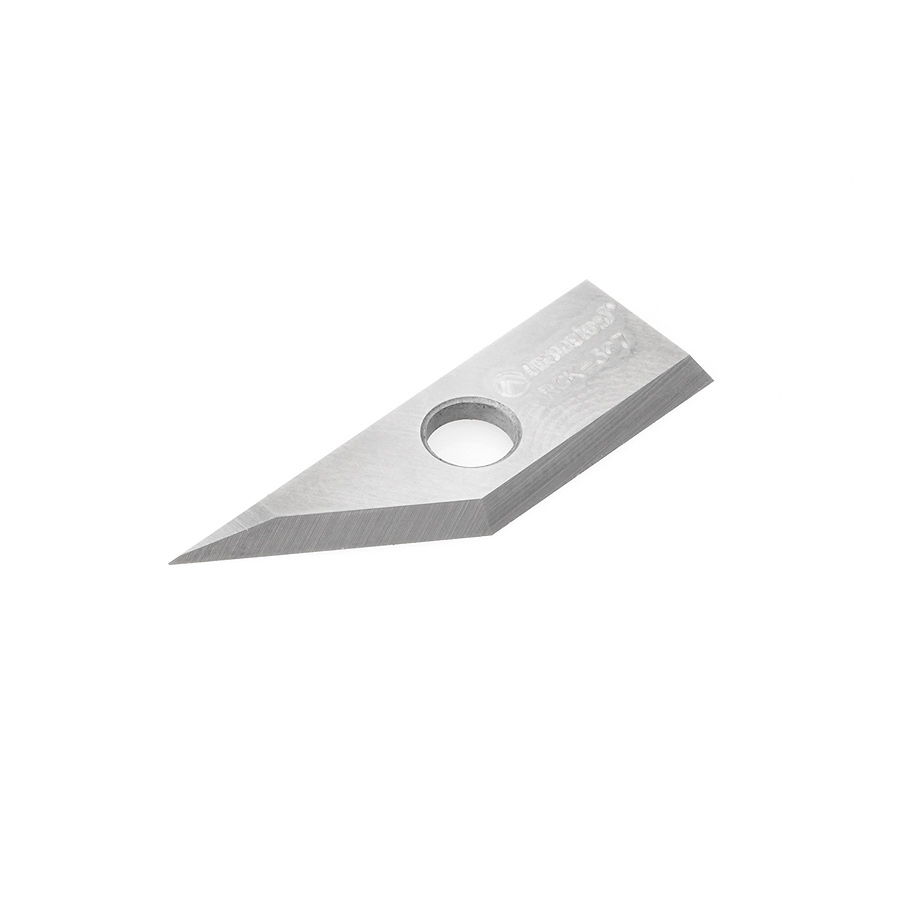 RCK-367 Solid Carbide V Groove Insert MDF Knife 27x9x1.5mm for RC-1040