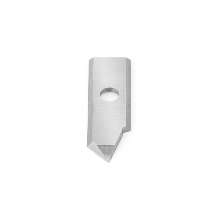 RCK-390 Solid Carbide Insert 90 Deg x 0.005 Inch V Tip Width Engraving Knife for In-Groove System