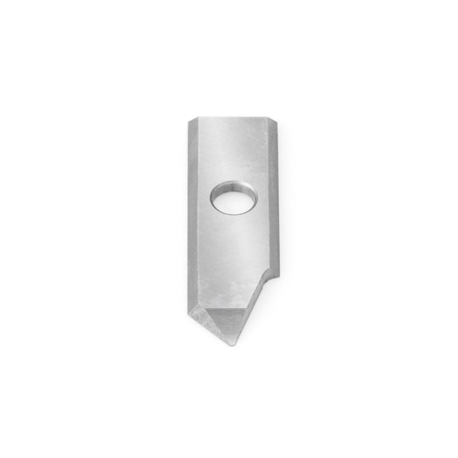 RCK-393 Solid Carbide Insert 90 Deg x 0.040 Inch V Tip Width Engraving Knife for In-Groove System