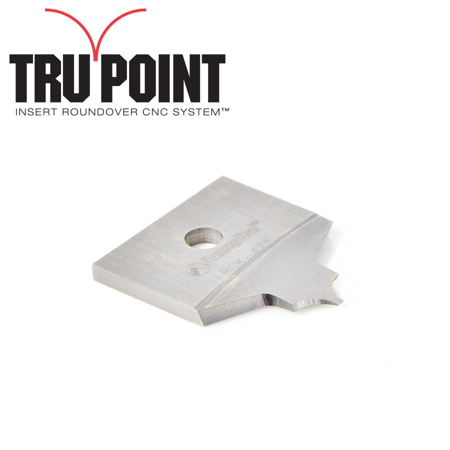 RCK-471 Solid Carbide Insert 1/8 Radius Knife for Tru Point Roundover Insert CNC System