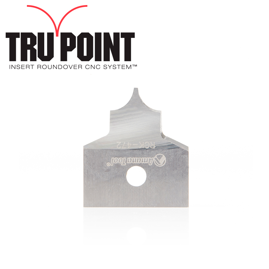 RCK-472 Solid Carbide Insert 3/16 Radius Knife for Tru Point Insert Roundover CNC System