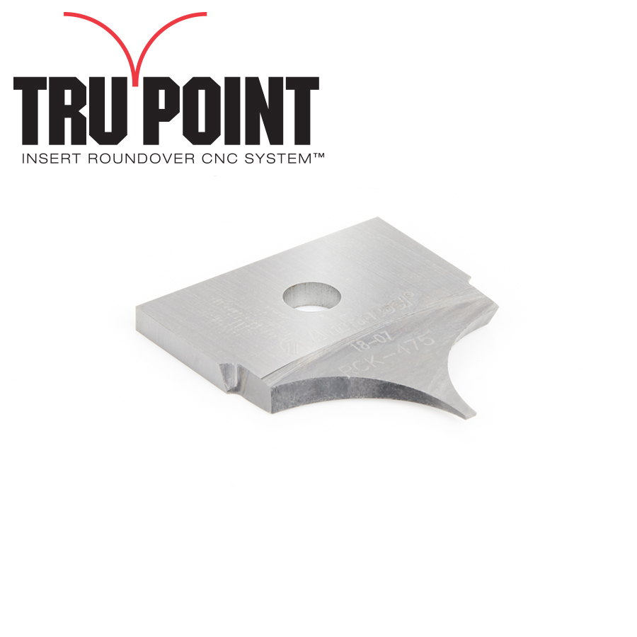 RCK-475 Solid Carbide Insert 3/8 Radius Knife for Tru Point Insert Roundover CNC System