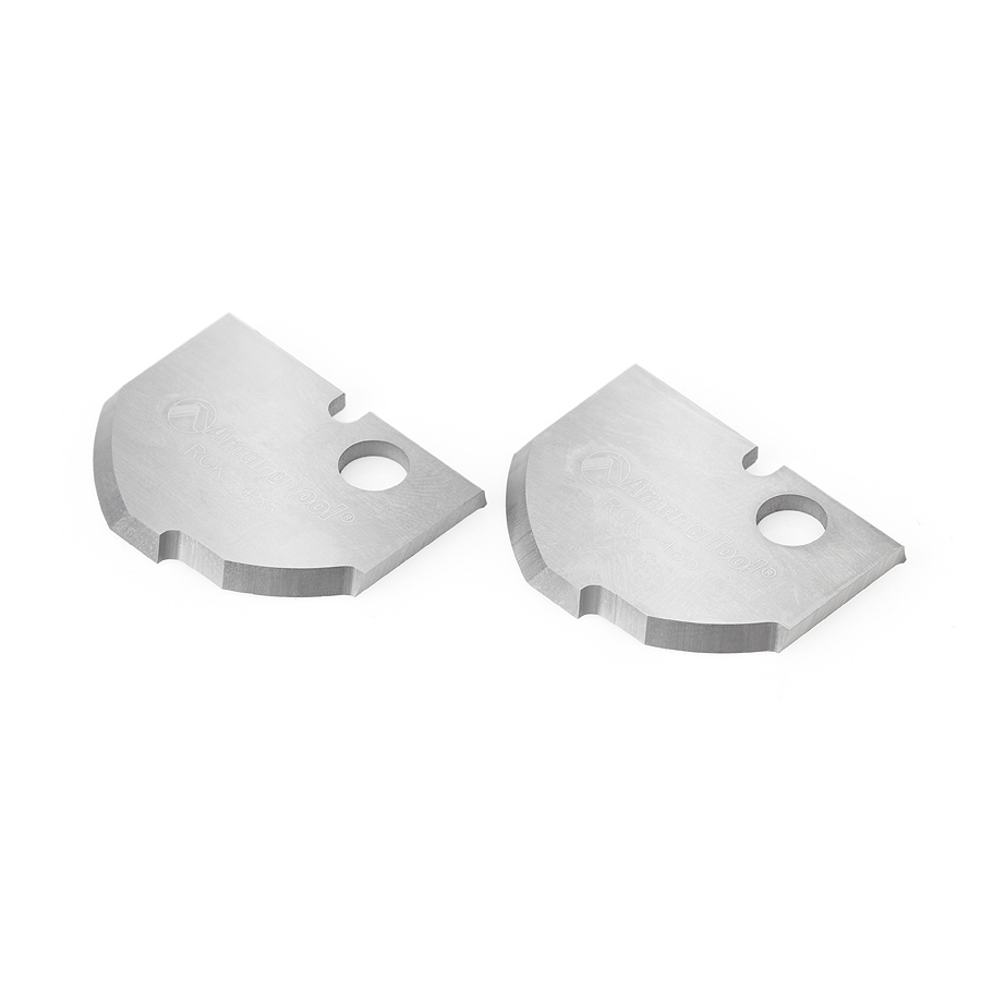 RCK-485 Pair of Solid Carbide Cove MDF & Wood Raised Panel Insert Knives for RC-2485