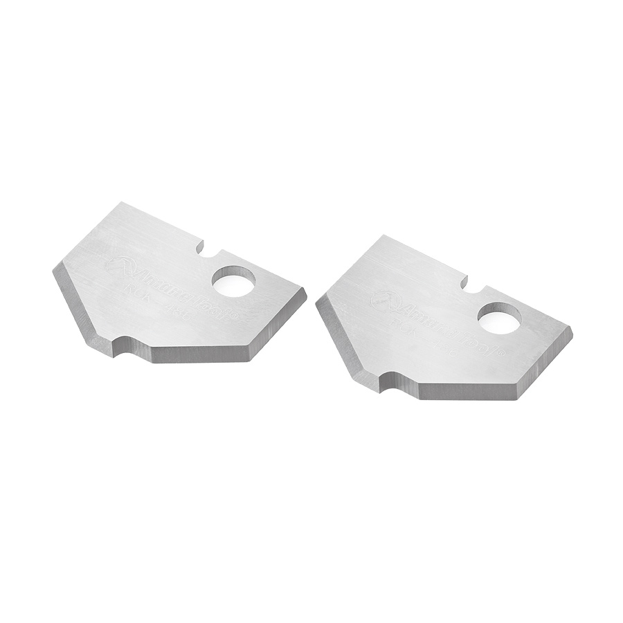 RCK-486 Pair of Solid Carbide Traditional MDF & Wood Raised Panel Insert Knives for RC-2486