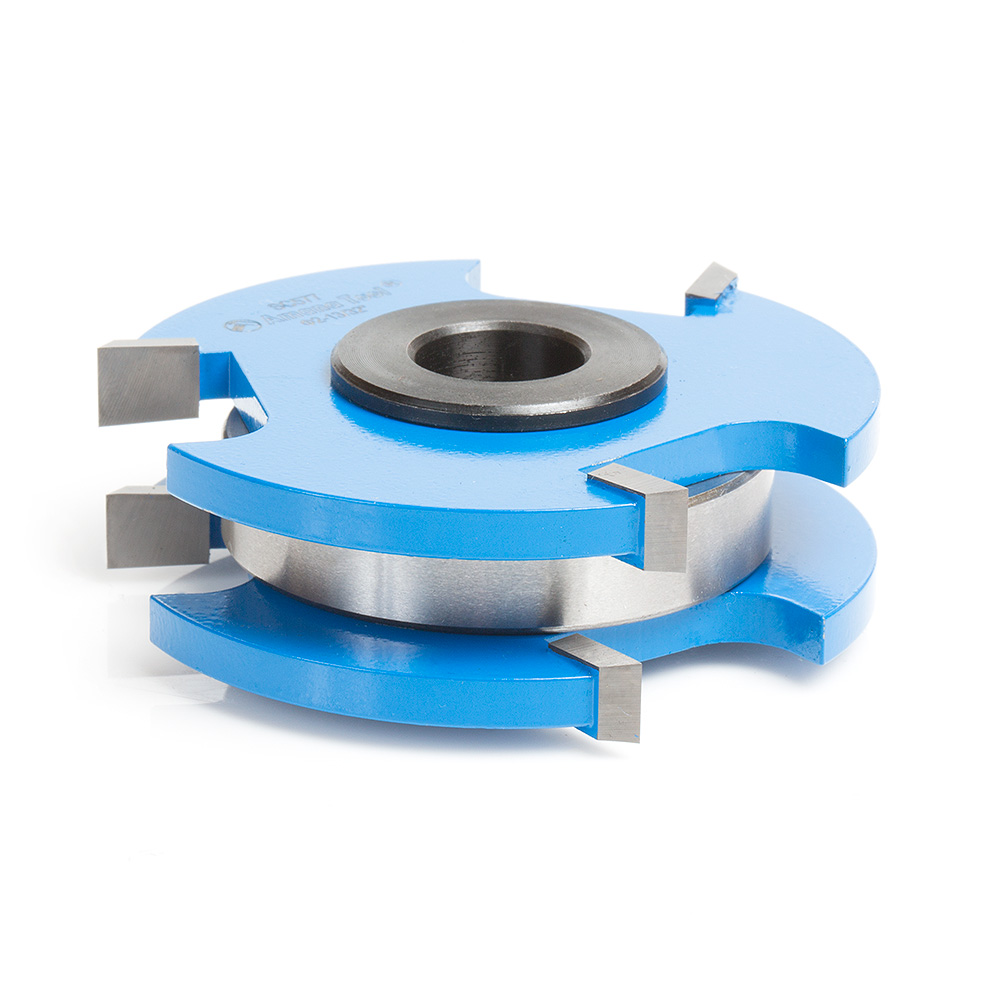 SC577 Carbide Tipped 3-Wing Tongue & Groove Reversible Stile & Rail  2-13/32 x 3/4 x 1/2 & 3/4 Bore for 3/4 Inch Material