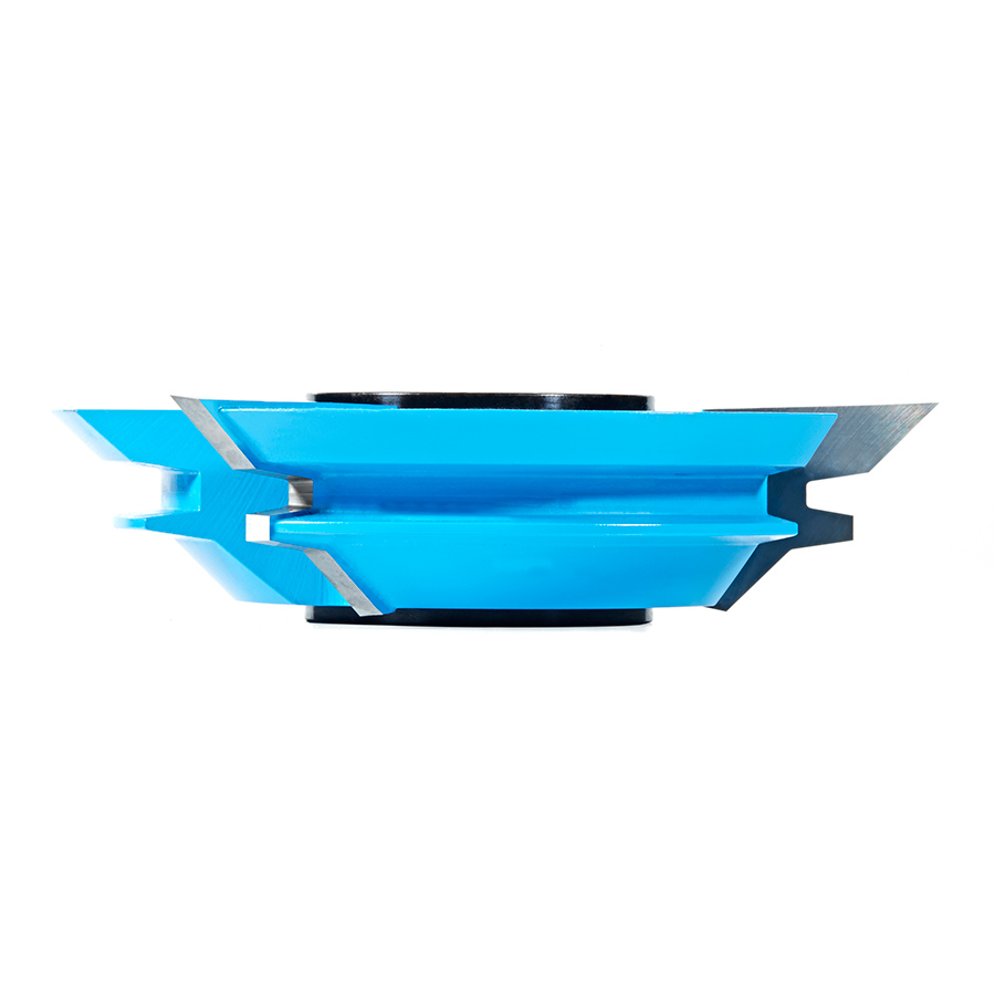 SC619 Carbide Tipped 3-Wing Lock Miter 45 Deg x 4-17/32 Dia x 1 x 1 & 1-1/4 Bore