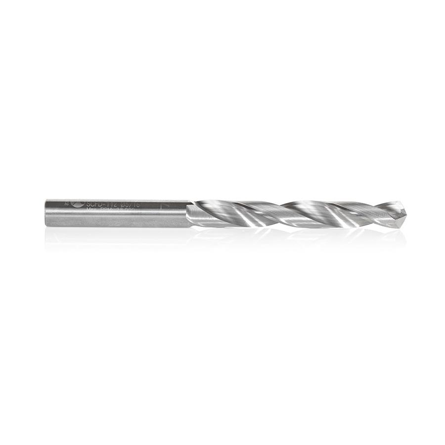 SCFD-112 Solid Carbide CNC 4 Facet 118 Deg Drill Point 5/16 Dia x 2-3/8 x 5/16 Shank x 4 Inch Long