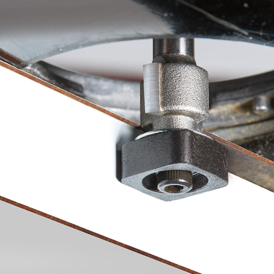 47146 Carbide Tipped Laminate Trimmer with Euro™ Square Bearing 1/2 Dia x 1/2 x 1/4 Inch Shank Router Bit