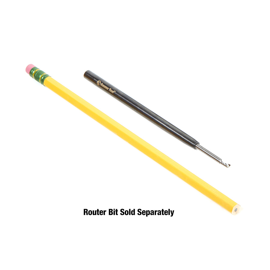 TE-130 CNC Narrow Reach Tool Holder Extension 1/4 Shank, 4 Inch Length, 1/8 Inch Inner Dia.