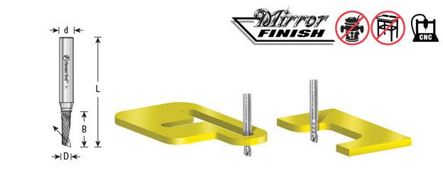 51414 Solid Carbide CNC Spiral O Single Flute Plastic Cutting 3//8 Dia x 1 Amana Tool