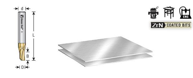 Amana Tool 51450 Soft Aluminum Cutting 3//16 Dia x 1//4 Shank Single Flute Up-Cut U