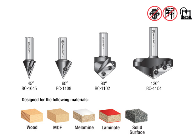 Industrial Grade AMS-150 4Pc CNC 3D Signmaking Set Amana Tool